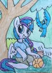 Anthro Adean pony chilling by WolfSpiritClan