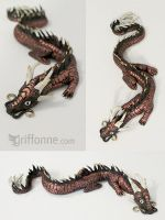 Painted Dragon Figurine by joanniegoulet