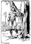 Tarzan and his little monkey inked by brianrobinson