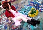 Flowers and Graffiti - Aerith Gainsborough by miyumiyuchancosplay