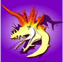 Dragon of Flames by GingerAnne