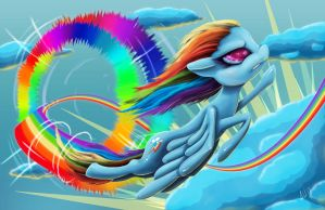 Rainbow Dash Sonic Rainboom by Riznof