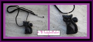 Black Cat Set_Necklace by ReddyBirdMadGirl