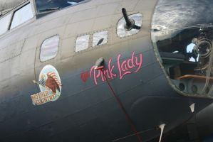 pink lady nose art B17G by Sceptre63