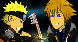 NARUTO vs SORA done by dirtshut