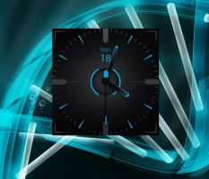 Stealth Clock for xwidget by jimking