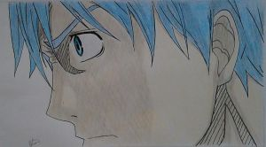Angry face of Kuroko by GSPARRowdeathlegend