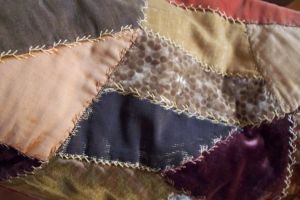 Antique Crazy Quilt texture by paintresseye