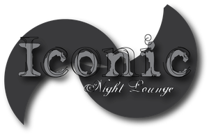 iconic Night Lounge logo 2 bw by Lovett91