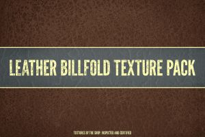Leather billfold texture pack by simonh4