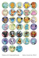 Revamped Pokemon Buttons by tiikay