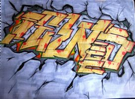 Fews graffiti piece by Cypher-Black
