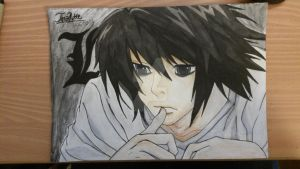L - Death note by tinaditte