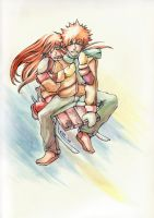 IchiHime Winter Fun by Eien-no-hime