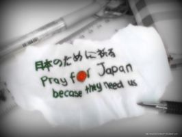 Pray For japan by LimpidlyDoodles97