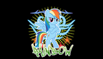 Rainbow Dash desktop by ThaddeusC