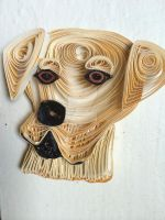 Paper Quilling Yellow Lab by wholedwarf