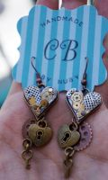 Industrial Hearts - Earrings by colourful-blossom
