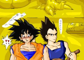 Vegeta x Goku Hide n Seek by PrinceAmongThieves