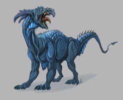 Blue armored monster by Dimenran