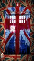 Splattered Union Jack Tardis by lucy-holland