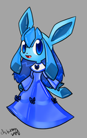 PKMN anthro project: Glaceon by chibitracy
