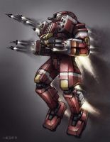 Mech Warrior - Dervish by Shimmering-Sword