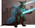 Wrath of Godzilla by aboveClouds