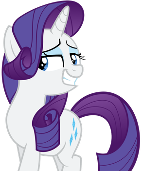 Rarity's Confident Grin by TizerFiction