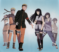 Cleared Naruto + Hinata art from the last booklet by Exkirion