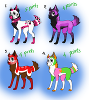4-5 points adoptables by zcherozrodesidz