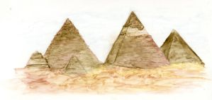 Pyramids of Gyza by ninxorcist