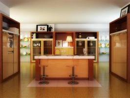 Kitchen interior by Voserna