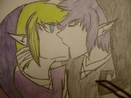 Vio and Shadow- Stolen kiss by Stitches980