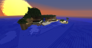 Minecraft Kingdom Hearts: Destiny Islands by Zimfan508
