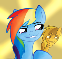 Rainbow Dash Face Cane Whatever Thing by Wonder-Waffle