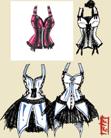 Corset Design: 2 by Kinbarri