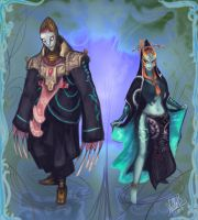 Midna and Zant again by StellaB