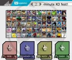 Super Smash Bros. for WiiU/Nintendo3DS Roster by romisnalo31