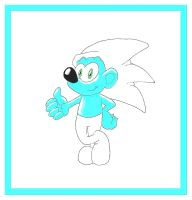 Sonic The Smurf by funkyjeremi
