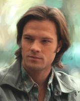 Sam Winchester Portrait by virgothedreamer