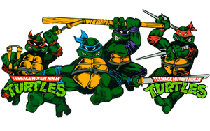 TMNT Bookcover Spread Wallpaper by FistfulOfYoshi