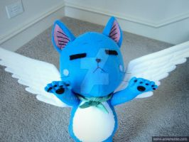 Quiet Gliding Happy plush Fairy Tail by waynekaa