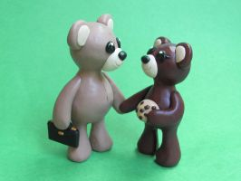 Teddy Bear Couple by DragonsAndBeasties