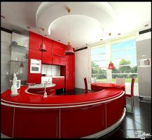 Crimson Kitchen by delaram