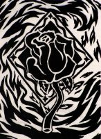 Rose and Flames by kimberly-castello
