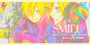 Smile Len out by KamuBronikNails