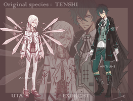 [OPEN] Uta original species + Exorcist adopt by Aritsune-chan