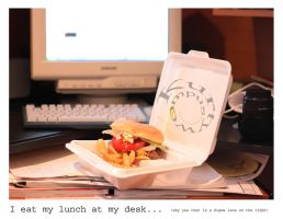 I Eat My Lunch at My Desk by kurtywompus