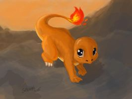 Selkie Draws the Dex: #004 Charmander by selkie-gal